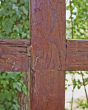 Cross shaped wood junction Royalty Free Stock Image