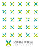 Cross Shapes Vector Logo Design Elements Stock Images