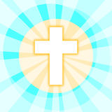 Cross with Shining Rays Royalty Free Stock Image