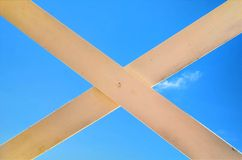 Cross signe on sky Royalty Free Stock Photos