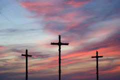 Cross Silhouette against dramatic Sky Royalty Free Stock Images
