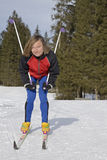 Cross skiing Stock Photo
