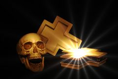 Cross and skull royalty free stock photo