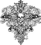 Cross Skull Illustration Stock Images