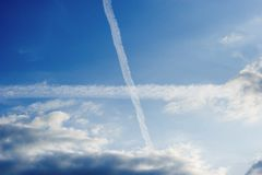 Cross in sky Royalty Free Stock Image