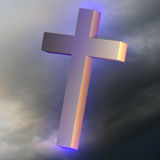 The cross in the sky Royalty Free Stock Photography