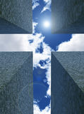 Cross in the sky Stock Photos