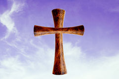 Cross the sky background Royalty Free Stock Photo