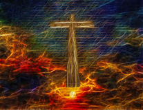 Cross in Sky Royalty Free Stock Photography