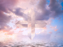 Cross in the sky Royalty Free Stock Images