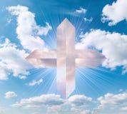 Cross in the sky Stock Image