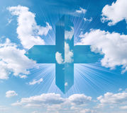Cross in the sky Stock Photography