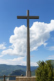 Cross in the sky Stock Images