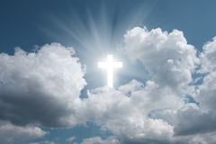 Cross in sky Stock Photography