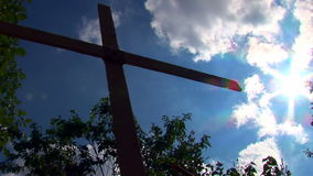 Cross And Sky 01 stock video