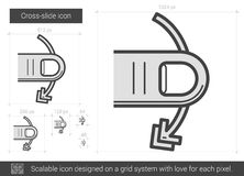 Cross-slide line icon. Royalty Free Stock Photo