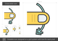 Cross-slide line icon. Royalty Free Stock Images