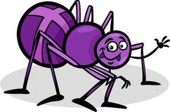 Cross spider insect cartoon illustration Stock Photos