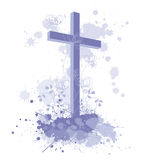 Cross with Splash paint Royalty Free Stock Photo