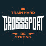 Cross Sport emblem with original lettering and motivating slogan Stock Photo