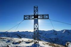 The cross in Sport Gastein, Austria Stock Images