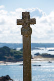 Cross of St Michel Church on the island of Brehat in Brittany Stock Photos