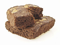 Cross stack brownies Stock Photography