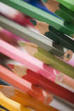 Cross-stacked colored pencils near Royalty Free Stock Photo