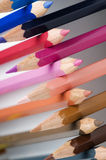 Cross-stacked pencils slanting Royalty Free Stock Photo