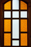 Cross on stained glass Royalty Free Stock Photography
