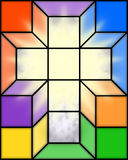 Cross in Stained Glass. Illustration of a stained glass cross with light shining through Stock Images