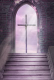 Cross and stairs Stock Image