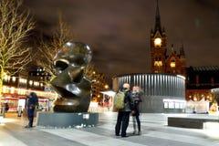 Cross Station du Roi avec la sculpture Images libres de droits