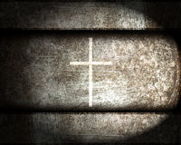 Cross on a steel Stock Image