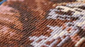 Cross-stitch. Background texture, a horizontal picture Royalty Free Stock Photo