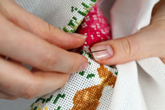 Cross-stitch Royalty Free Stock Photography