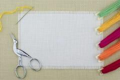 Cross-stitch stock image