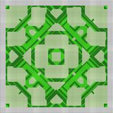 Cross stitch- abstract embroidery pattern stock illustration