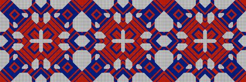 Cross stitch- abstract embroidery pattern royalty free illustration