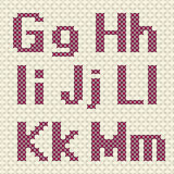 Cross stitch alphabet and number. Royalty Free Stock Photos