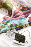 Cross stitch art in the making Stock Photos