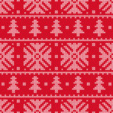 The cross stitch. Christmas snowflakes. Decorative pattern. Stock Photography