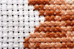 Cross-Stitch close-up Royalty Free Stock Photography