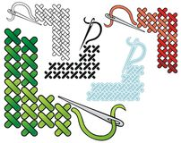 Cross stitch corner Royalty Free Stock Photo