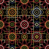 Cross stitch for decoupage. Cross stitch vector illustration. Bright seamless dark pattern background for decoupage Stock Image