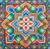 Cross-stitch embroidery Royalty Free Stock Image