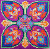 Cross-stitch embroidery Stock Photography