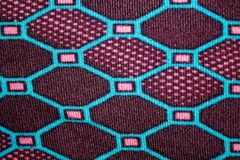 Cross stitch embroidery on canvas Handmade woven cotton fabric Royalty Free Stock Photography