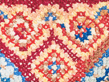 Cross stitch embroidery close up. Vintage knitting craftsmanship - cross stitch embroidery close up Royalty Free Stock Image
