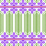 Cross Stitch Embroidery floral design for seamless pattern texture Stock Image
